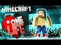 FINDING A MAGICAL CAVE!  One Life SMP #27