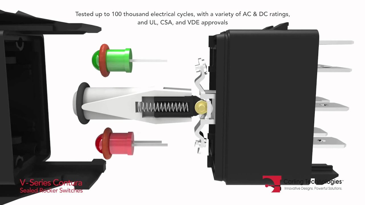 carling technologies rocker switch wiring diagram warn winch bolt pattern contura v switches from dun bri group - youtube
