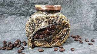 декор банки кофе!  Мастер класс!