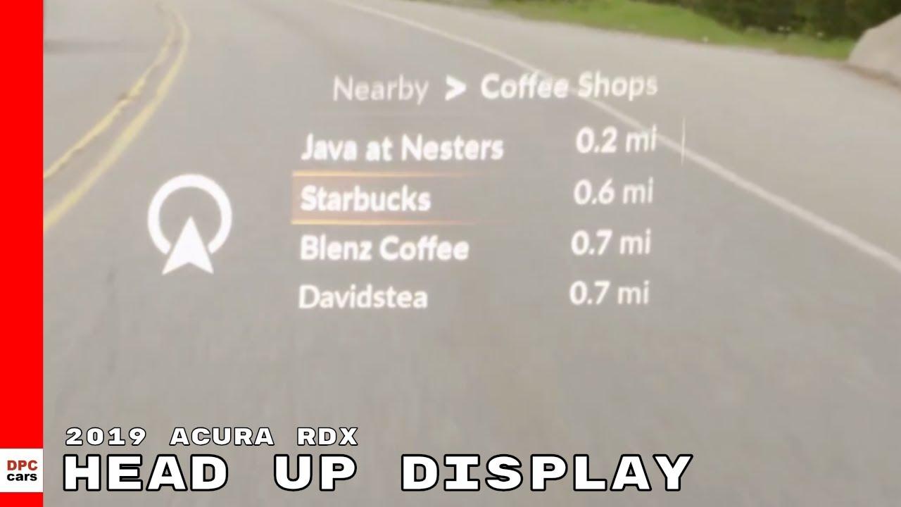2019 Acura Rdx Head Up Display Youtube