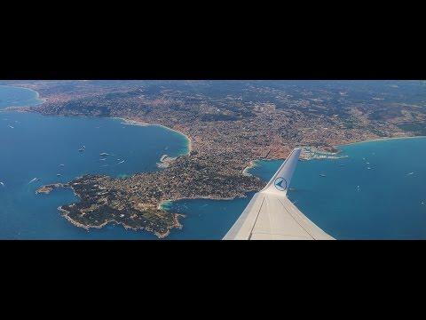 Beautiful Côte dAzur! Boeing 737 departure!