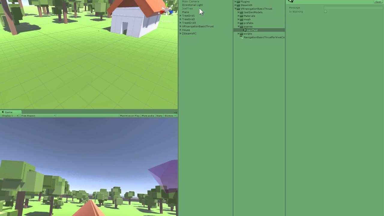 Unity 3D Asset: Flying Thrust Navigation for HTC Vive Controller