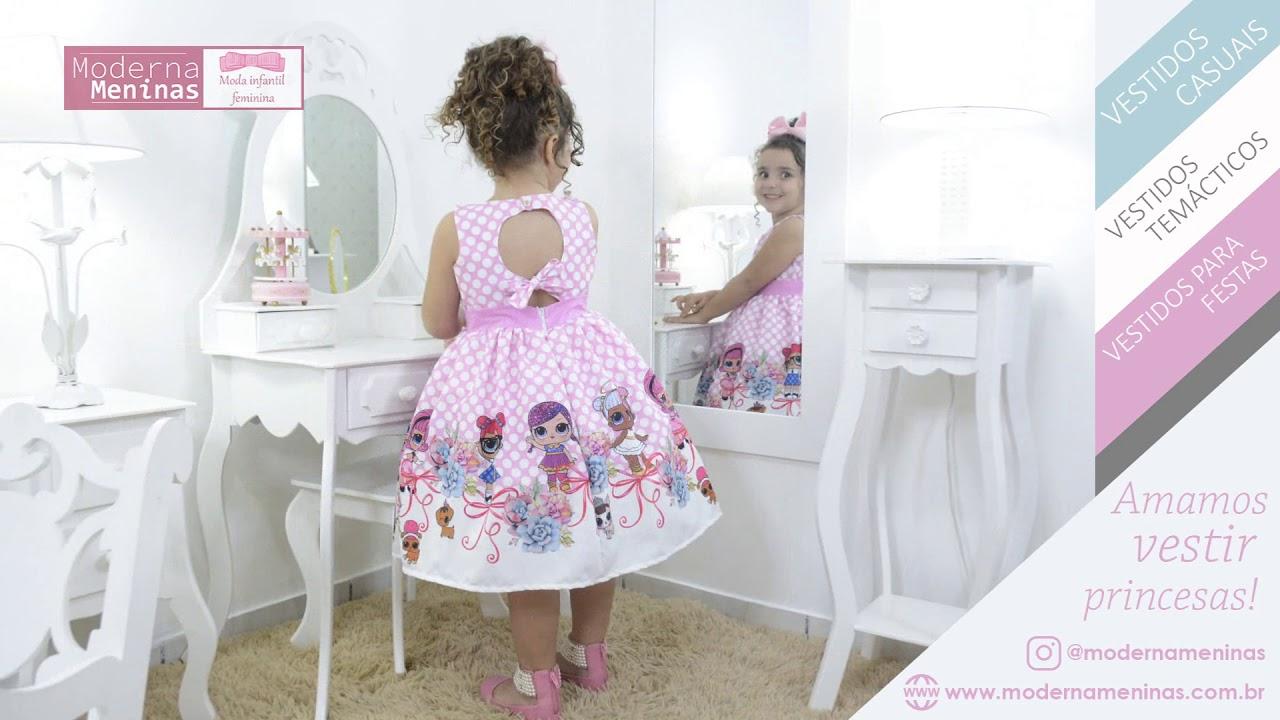 dde31990ea Vestido infantil festa das mínis bonecas Lol surprise rosa - YouTube