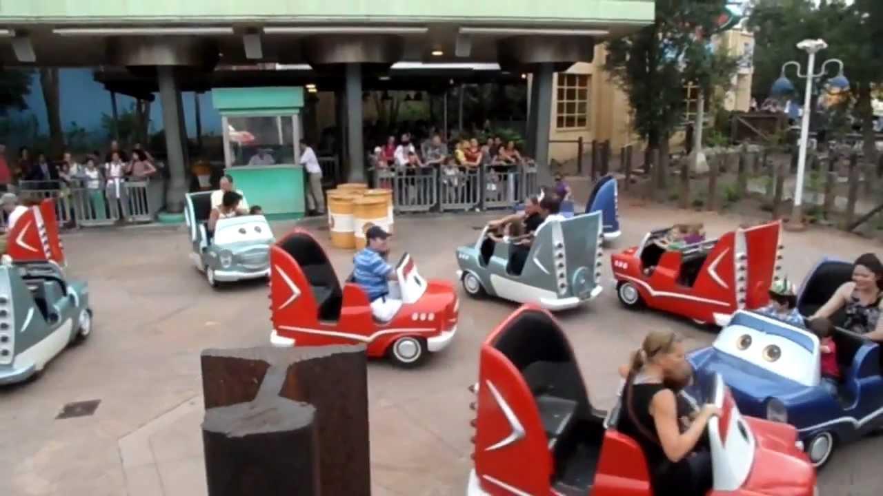 Cars Quatre Roues Rallye Disneyland Paris Youtube