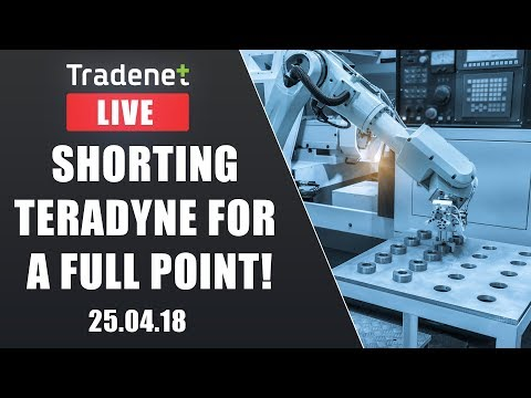 Live Day Trading - Shorting Teradyne for a Full Point!