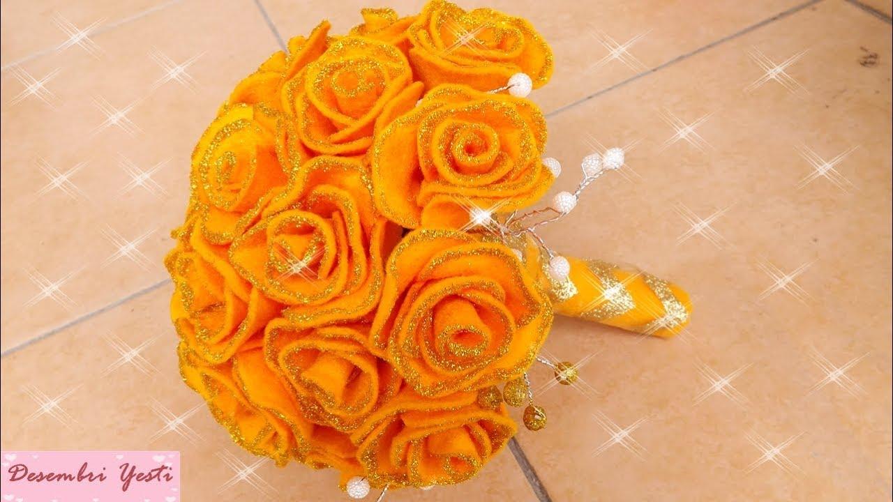 DIY Felt Wedding Bouquet - YouTube