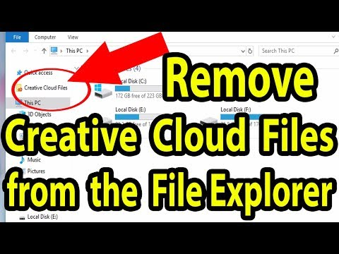 📂How To Remove Creative Cloud Files From The File Explorer Sidebar In Windows 10