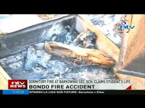 Dormitory fire at Barkowino Secondary School claims student's life