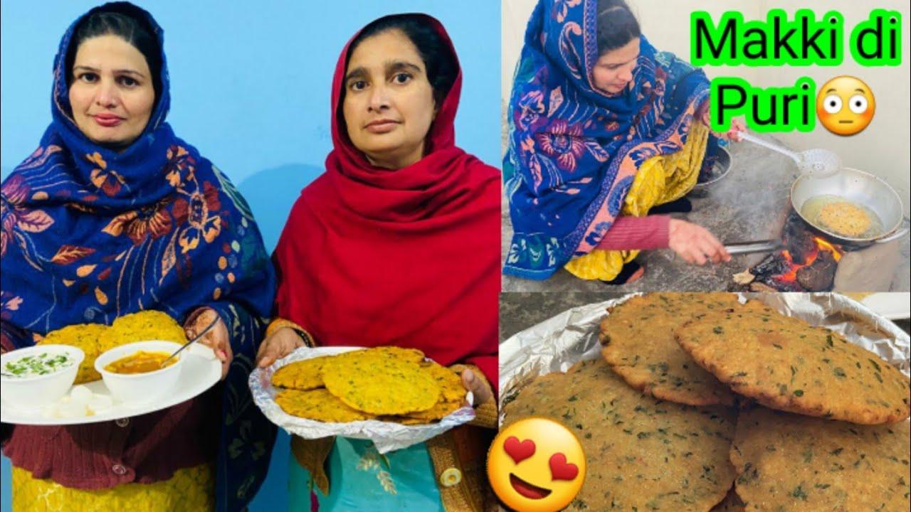Download ll Makki di Puri made at Home❤ll Very Unique Punjabi Recipe 🥰 ll By navsukhman vlogs ll