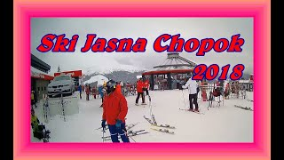 Jasná Nízke Tatry 2018 skiing unsuccessful collision in a ski resort