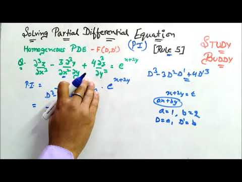 Solving Partial Differential Equation II Finding PI [ Rule 5 ]