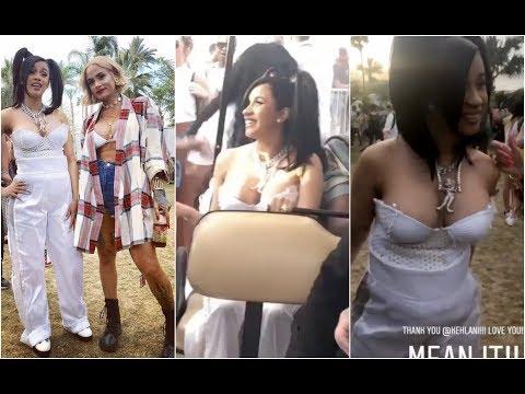 Cardi B Finally Meets Rihanna and Kehlani At Coachella
