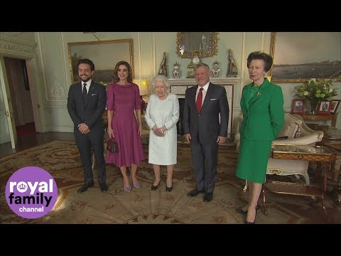 The Queen welcomes King of Jordan and Slovenian President to Buckingham Palace