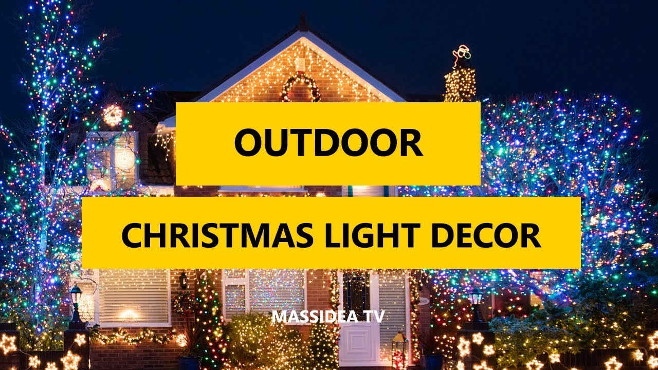 50 Best Outdoor Christmas Light Decoration Ideas 2018