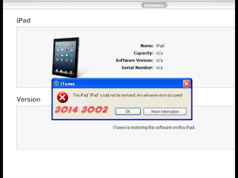 How To Fix iTunes Error 3002, 3004, 3014, iPod/iPhone/iPad, Feb 2015