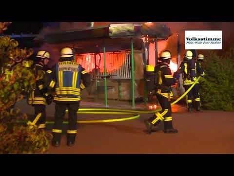 Imbisswagen brennt in Stendal