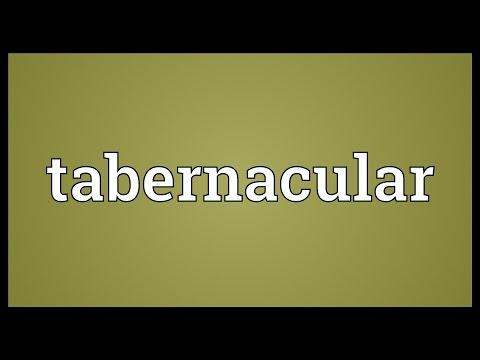 Header of tabernacular