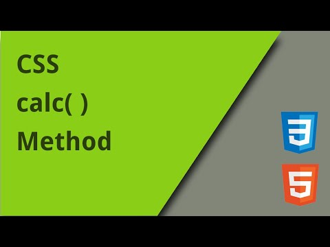 How To Use The CSS Calc Method