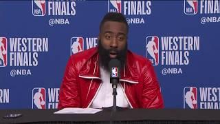 James Harden Postgame Interview | Warriors vs Rockets Game 7