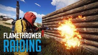 FLAME RAIDING EVERYONE! - Rust SOLO Survival