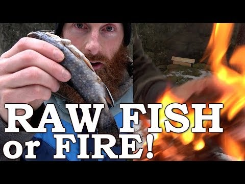 SURVIVAL CHALLENGE Raw FISH or FIRE!!! | HAND DRILL Friction Fire | Complete Step-by-Step Guide