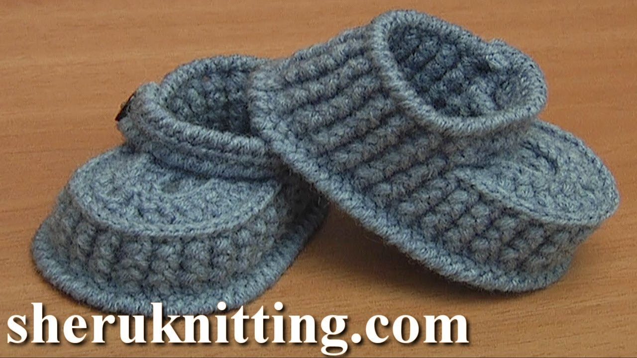 Learn How To Crochet Baby Booties Tutorial 64 Part 2 Of 3 Youtube