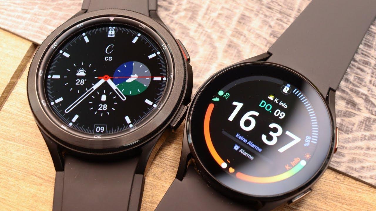 Samsung Galaxy Watch 4 vs. Watch 4 Classic: (K)ein großer Unterschied?