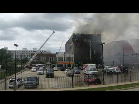 2017-6-25 - Rockford, Ill. Part 2 Hanley Furniture Building starts on fire