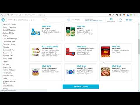 Best Printable Coupon Website: Earn Swagbucks Printing and Redeeming Coupons.com Coupons