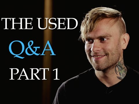 The Used - The PV Fan Q&A (Part 1) Hosted By Taking Back Sunday's Adam Lazzara