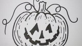 How To Draw Halloween Pumpkin
