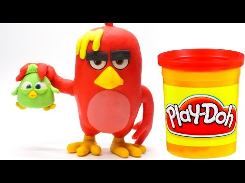 Thumbnail: Angry Birds Movie Red Stop Motion PlayDoh video & Surprise eggs