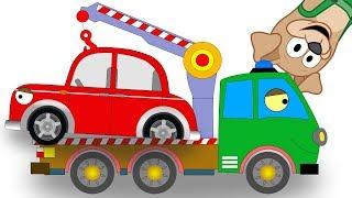 Бублик Попрыгунчик и Машина ЭВАКУАТОР помогают маленькой машинке  АВТОКРАН