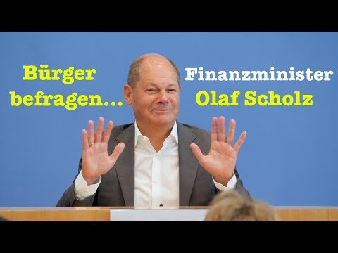 BürgerPresseKonferenz mit Finanzminister Olaf Scholz (SPD) - 26. August 2018