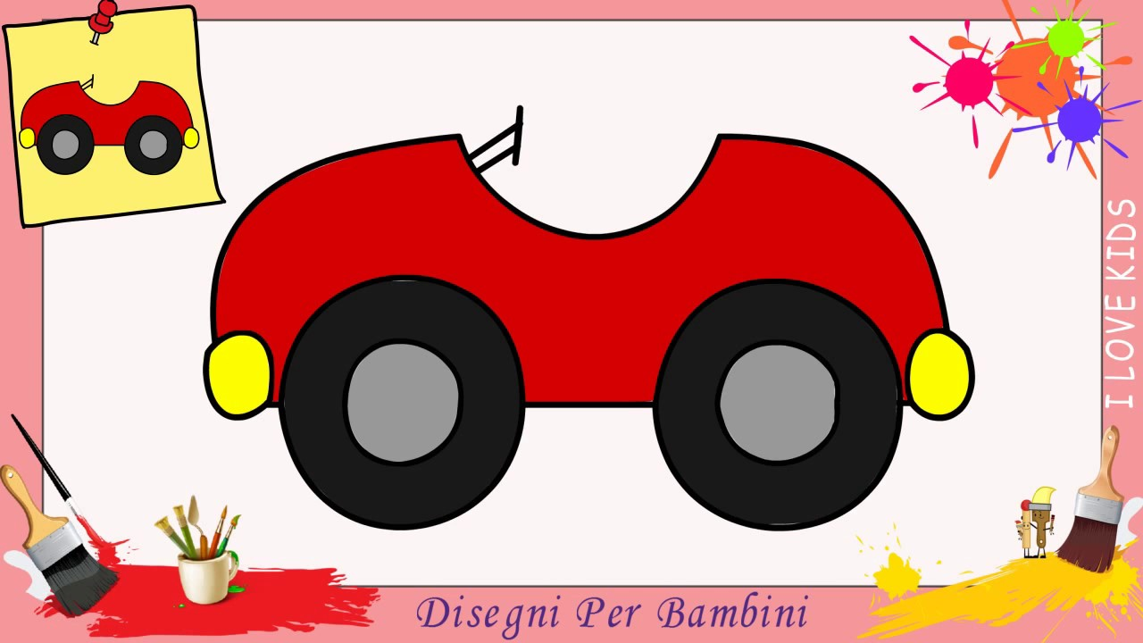 Disegni di auto facili per bambini come disegnare una for Disegni di animali per bambini