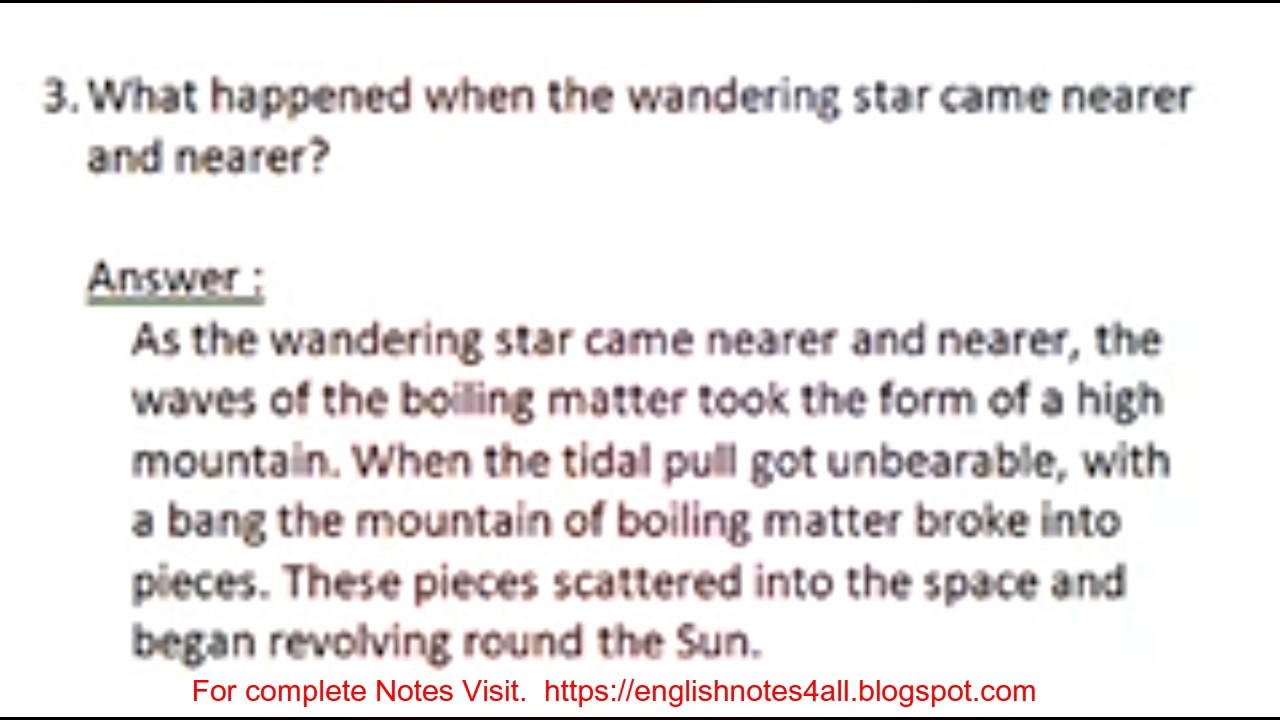 Second Year English lesson 1 The Dying Sun Questions,answers lecture by  Shahid Bhatti