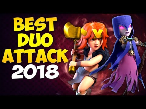 BEST DUO ATTACK EVER!? TH9 STRONG WAR ATTACK STRATEGY 2018 | Clash of Clans