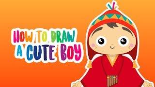 Drawkiddos - Peru series - How to draw a cute Peruvian boy