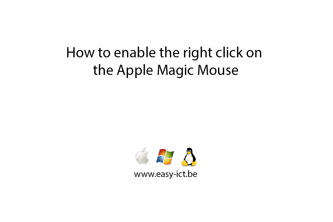 How to enable right click on the Apple Magic Mouse
