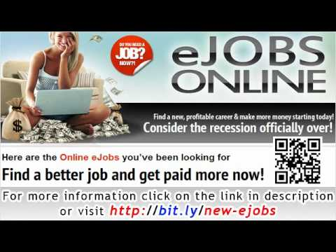 Online eJobs - Find a better job and get paid more now!