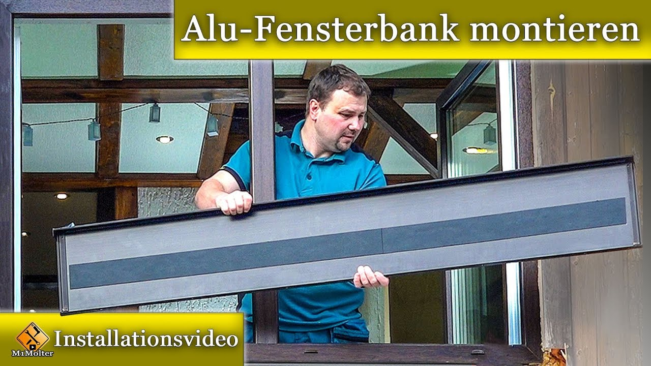 alu fensterbank montieren fensterbank blech einbauen so geht 39 s youtube. Black Bedroom Furniture Sets. Home Design Ideas