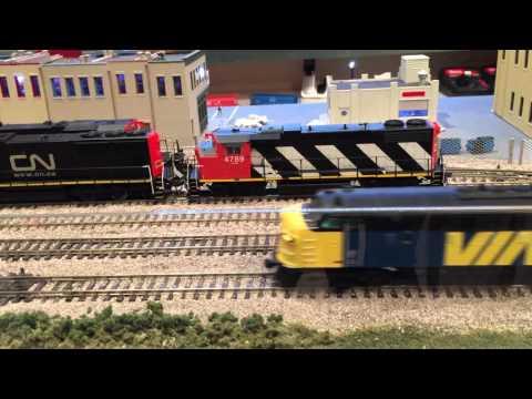 HO scale CN CP and VIA passenger train