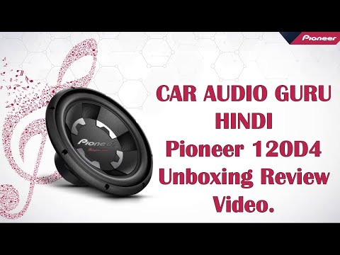 Pioneer Champion TS-W120D4 12-inch Dual Voice Coil Subwoofer Unboxing Review