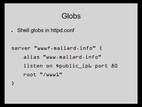 Michael W. Lucas: The OpenBSD Web Stack - BSDCan 2017