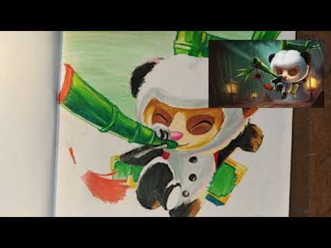 LoL: Drawing Champion League of Legends [Panda Teemo]