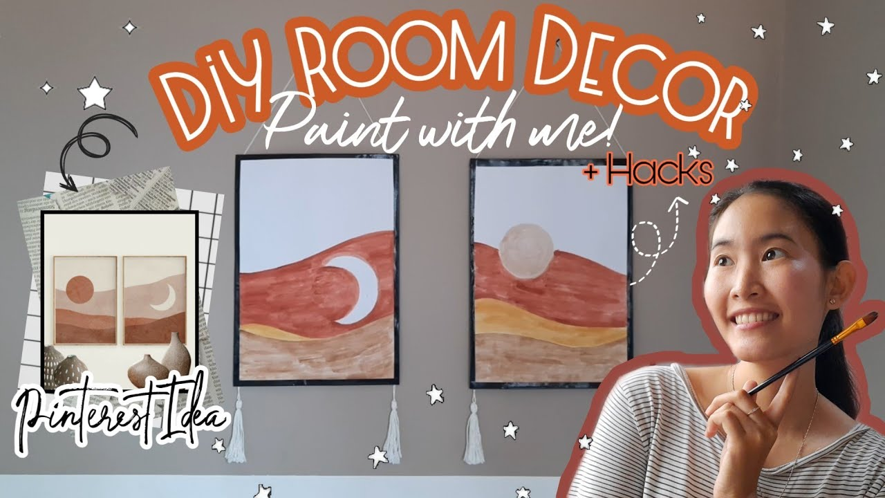 DIY Room Decor Aesthetic Indonesia | Draw With me! | DIY Wall Decor