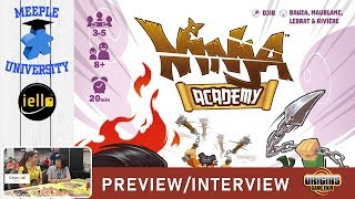 Ninja Academy Board Game - Preview & Interview at Origins 2019