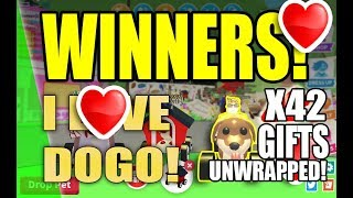 Adopt Me UNWRAPPING OVER 42 MASSIVE GIFTS FOR LEGENDARY DOGMOBILE WINNERS! -Roblox