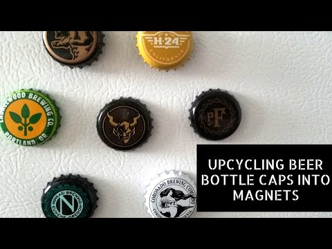 DIY: Upcycling Beer Bottle Caps into Refrigerator Magnets