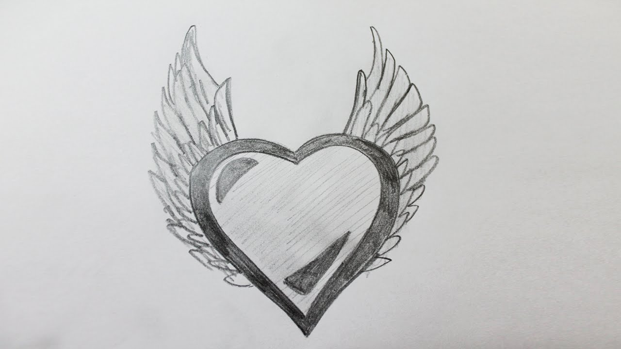 Comment dessiner un coeur avec des ailes youtube - Maquillage simple mais beau ...